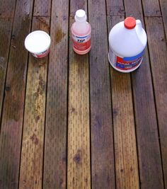 1. Mixture using only TSP powder; 2. My own solution of TSP-Plus-style cleaner; 3. Commercial brand of outdoor cleaner. The results will be better if you can apply the cleaner to a dry surface. Of course if you live near Seattle, like I do, that might be a challenge.