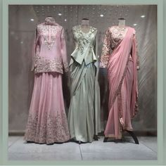 Indo western dress and ethnic wear. Indian Wedding Outfits, Bridal Outfits, Indian Outfits, Bridal Dresses, Stylish Dress Designs, Stylish Dresses, Designer Anarkali Dresses, Designer Dresses, Western Dresses For Women