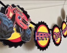 Blaze And The Monster Machines Banner Birthday by PartyPopBanners