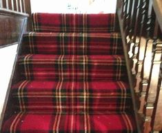 the tartan stairs to somewhere...?  thank you, j