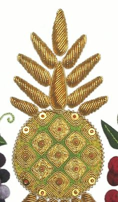Gold work embroidery | Still Life Goldwork Embroidery Kit - a Hand Embroidery Design as an ...