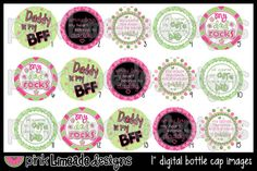 My Heart Belongs to Daddy -- Bottle Cap Art for hair bows or other bottle cap crafts -- $2.00