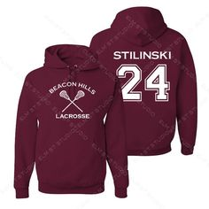 10% off TOP RATED Beacon Hills Lacrosse Hoodie Stilinski 24 ($30) ❤ liked on Polyvore featuring tops, hoodies, zipper hoodies, zipper sweatshirt, zippered hooded sweatshirt, purple zip hoodie and zip hoodie sweatshirt