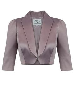 Allure Shawl Collar Luxe Satin Bolero