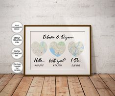 Custom Our Love Story Custom order printable First We Had Each | Etsy Map Wall Art, Map Art, Sign Printing, Printing Services, Printable Art, Printables, Heart Map, First Anniversary Gifts, Custom Map