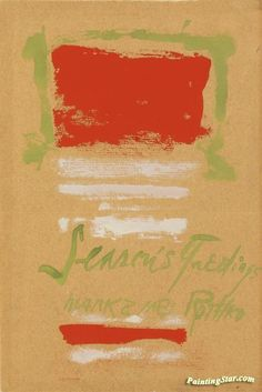 Untitled(season's greetings) Artwork by Mark Rothko Hand-painted and Art Prints on canvas for sale,you can custom the size and frame Mark Rothko Paintings, Rothko Art, Abstract Painters, Art Portfolio, Art Auction, Abstract Expressionism, Art Day, Canvas Art Prints, Hand Painted