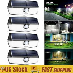 Litom 120 Led Solar Power Lights Outdoor Motion Lights Waterproof Security Lamp Solar Lamp Solarlamp So Solar Lamp Solar Powered Lights Solar Wall Lights