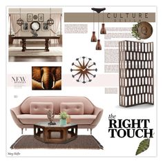 """""""The Right Touch"""" by mcheffer ❤ liked on Polyvore featuring interior, interiors, interior design, home, home decor, interior decorating, Kettal, Tribecca Home, Porada and Vitra"""