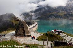 Moserboden Stausee in Austrian Alps near Kaprun.