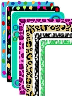 Borders for letterhead, newsletters, etc. - Group 1:  21 frames-FREEBIE!