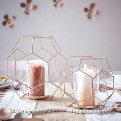 Decoração: Luminárias Geométricas