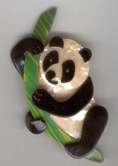 Lea Stein brooch panda