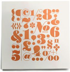 House Industries, Worthe, Numerals, Alphabet, Serigraph, Worthe Drop