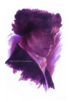Sherlock Holmes (with ink and markers) by SiljaVich.deviantart.com on @deviantART
