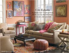 love this warm orange...an unexpected and fabulous paint color especially when paired with deep purples, turquoise, and magenta