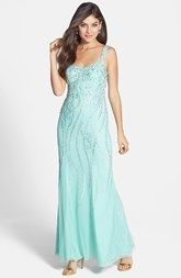 Sean Collection Embellished Bar Back Gown
