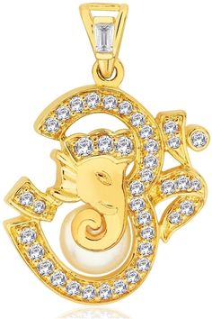 http://www.allyoursjewels.com/om-ganesha-diamond-pendant/  Made in Real Diamond &18kt Gold.Customize As per your Style and Budget.