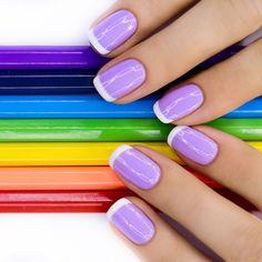 Purple funky french tip via @Phyrra #crueltyfree #purple