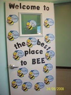 Welcome To The Best Place To Bee ~~~ kindergarten classroom decoration Classroom Displays, Classroom Themes, Holiday Classrooms, Door Displays, Library Displays, Future Classroom, Colegio Ideas, Preschool Bulletin Boards, Bee Bulletin Boards