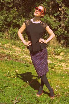 Lace top & Pencil Skirt | Women's Look | ASOS Fashion Finder http://malketa.blogspot.com.es/2014/03/lace-top-pencil-skirt.html