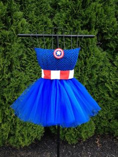 Captain America inspired tutu dress. Kids sizes, but she was open to other sizes… so maybe some of us adults can get this?