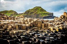 The Giant's Causeway on the Antrim Coast Road in Northern Ireland.