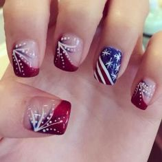 24 fantastic bright summer and fourth of july nail design ideas