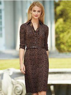 Leopard Print Shirtdress #Talbots Talbots Renaissance at Colony Park  601.856.3435  #shoprenaissance