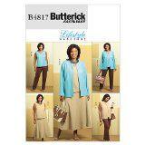Butterick Patterns B4817 Women's/Women's Petite Jacket, Vest, Top, Skirt and Pants, Size RR (18W-20W-22W-24W) - http://sewingpins.net/sewing/sewing-patterns/butterick-patterns-b4817-womenswomens-petite-jacket-vest-top-skirt-and-pants-size-rr-18w-20w-22w-24w/