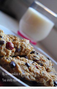 presque cookies à l'avoine et aux cranberries