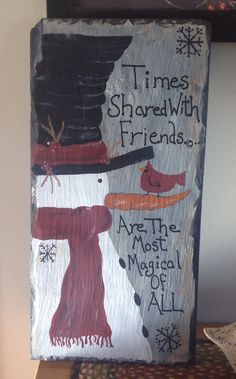Country snowman slate