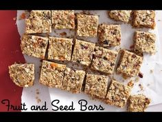 Watch: Fruit and Seed Bars: Healthy Snack Recipes - Weelicious #nutfree