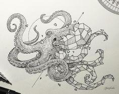 Geometric octopus tattoo design • Visit artskillus.ru for more tattoo ideas