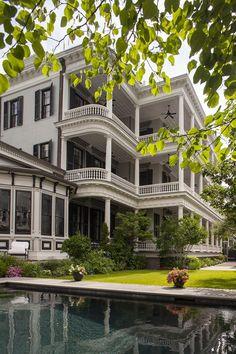Charleston - live oaks, columns and wide porches...