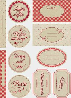 FREE printable canning jar tags and labels Printable Labels, Printable Paper, Free Printables, Jam Label, Etiquette Vintage, Canning Labels, Gift Card Giveaway, Vintage Labels, Silhouette Projects