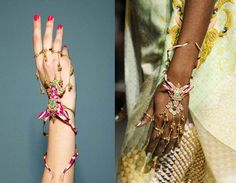 Manish Arora @Amrapali Jewels collection Gazelle hand harness (31,000 INR).