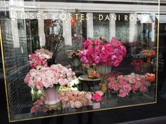 Roses Costes Dani Roses - one of the most beautiful window displays I saw in Paris. Very fitting my 1,000th pin is Paris-related.
