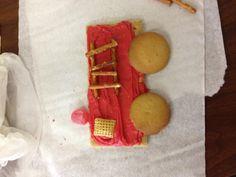 Fire truck snacks in kindergarten