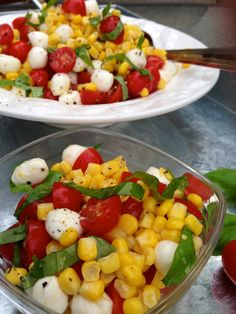 Caprese Corn Salad -- Easy and Delicious!