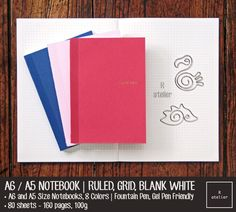 This listing is for Pack of 2 and Pack of 3 A6 and A5 Notebook Refills of your choice at reasonable price!