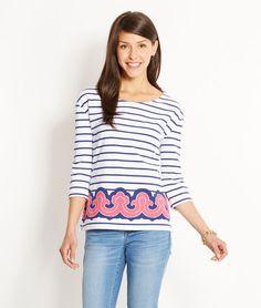 Vineyard Vines border stripe knit top