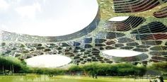 Massive Honeycombed Skyscraper Flat Tower Arches Over Green Space | Inhabitat - Sustainable Design Innovation, Eco Architecture, Green Build...