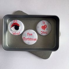 Christmas Love All I Want For Christmas Is You Magnet Gift Set with gift tin Say It With Magnets. Christmas Love, All Things Christmas, Christmas Gifts, All I Want, Things I Want, Tin Gifts, A4 Paper, Stocking Fillers, Magnets