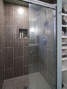 gray tiled showers - Google Search