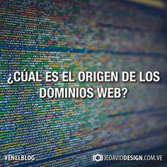 """Nueva entrada en mi blog! Nunca te has preguntado el origen de las diferentes direcciones web? Porque utilizar """".com"""" """".net"""" o """".org""""? Entérate de eso en JeDavidDesign.com.ve  #EnElBlog #web #dominios #historia #blog"""