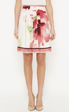 Loro Piana Pink, White And Multicolor Skirt