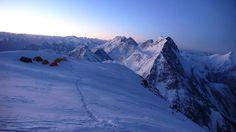 Sunrise at camp 4 on K2. Photo by Fabrizio Zangrilli.