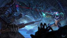 Samus vs Predator 1 by PTimm