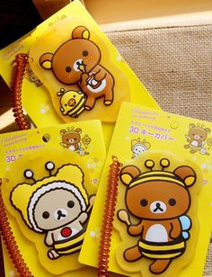 Cute Baby Bear Silica Gel Card Protective Case
