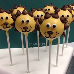 I Pop Cakes: Lion Cake Pops